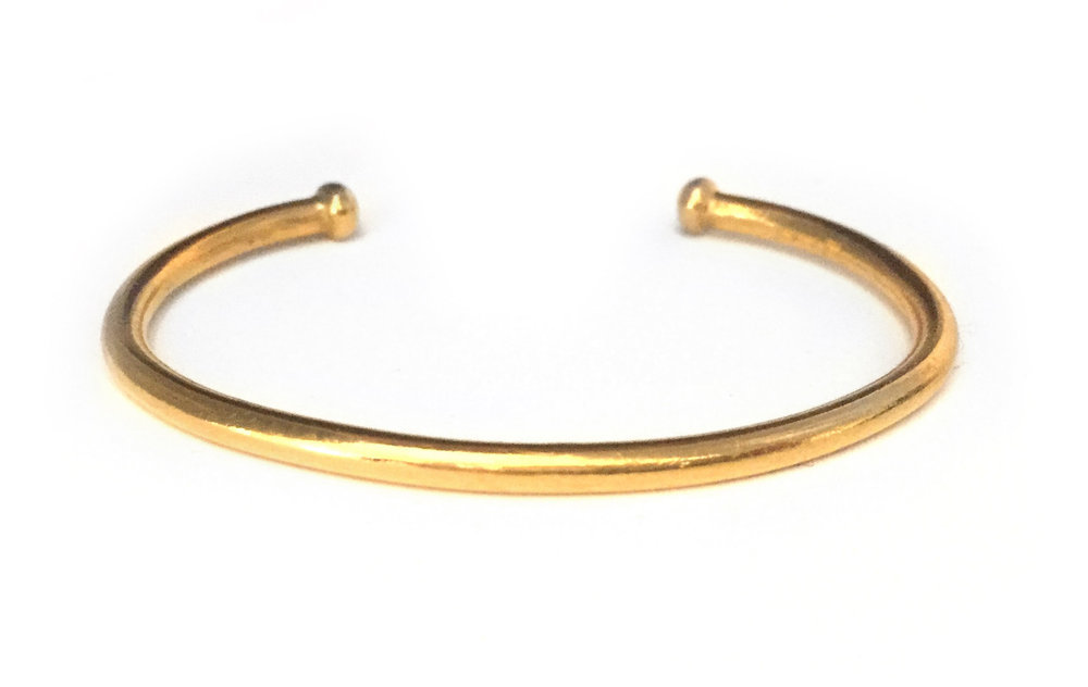 Solid 24kt Gold Bangle - Made to Order