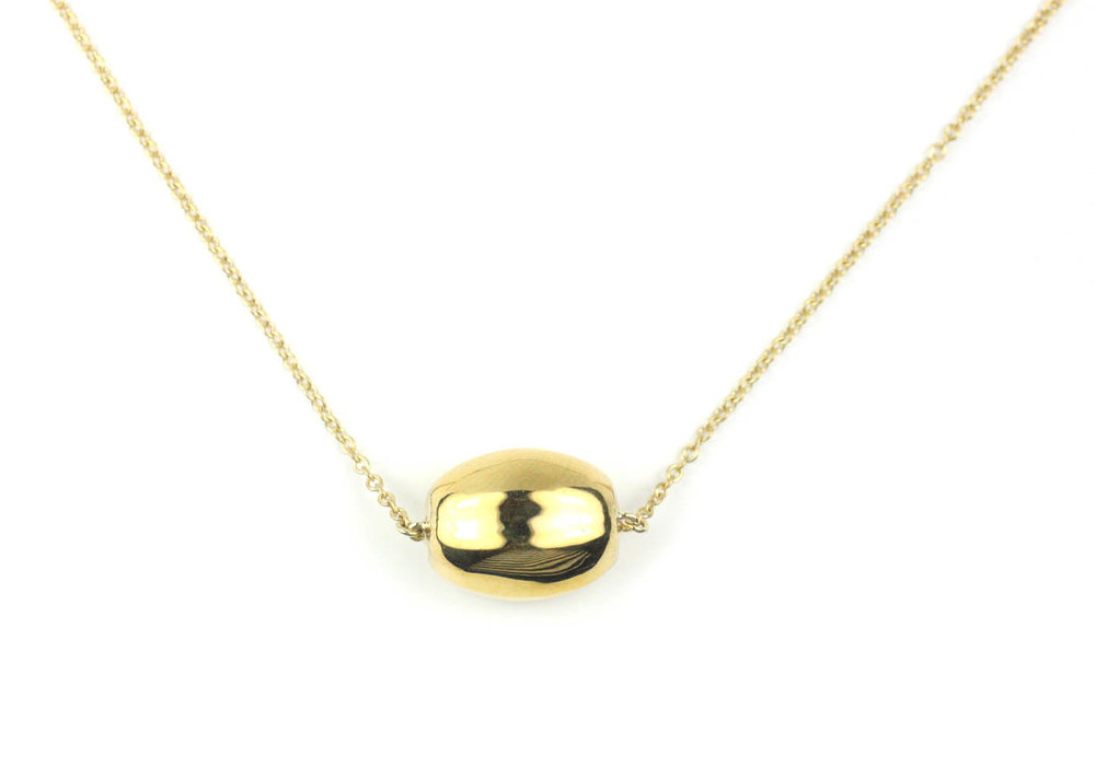 18kt Gold Melon Bead Necklace - In Stock