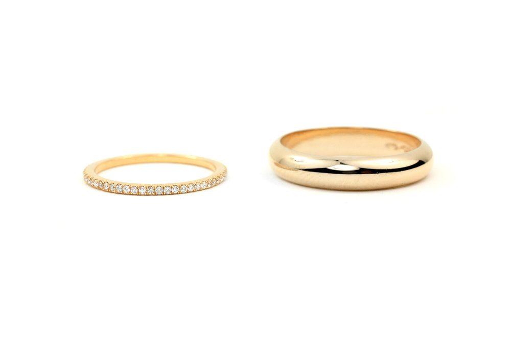 Diamond Band and Gold Band