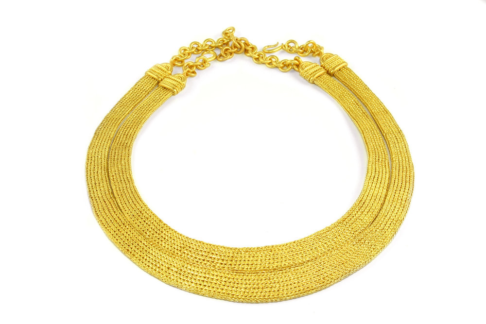 Woven Gold Necklaces