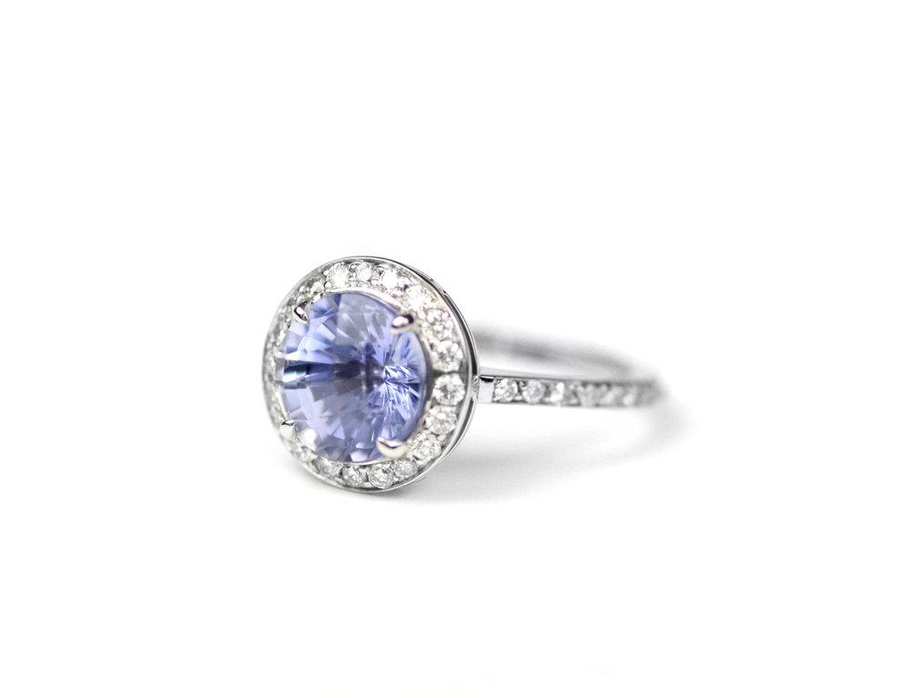 Cornflower Sapphire Ring