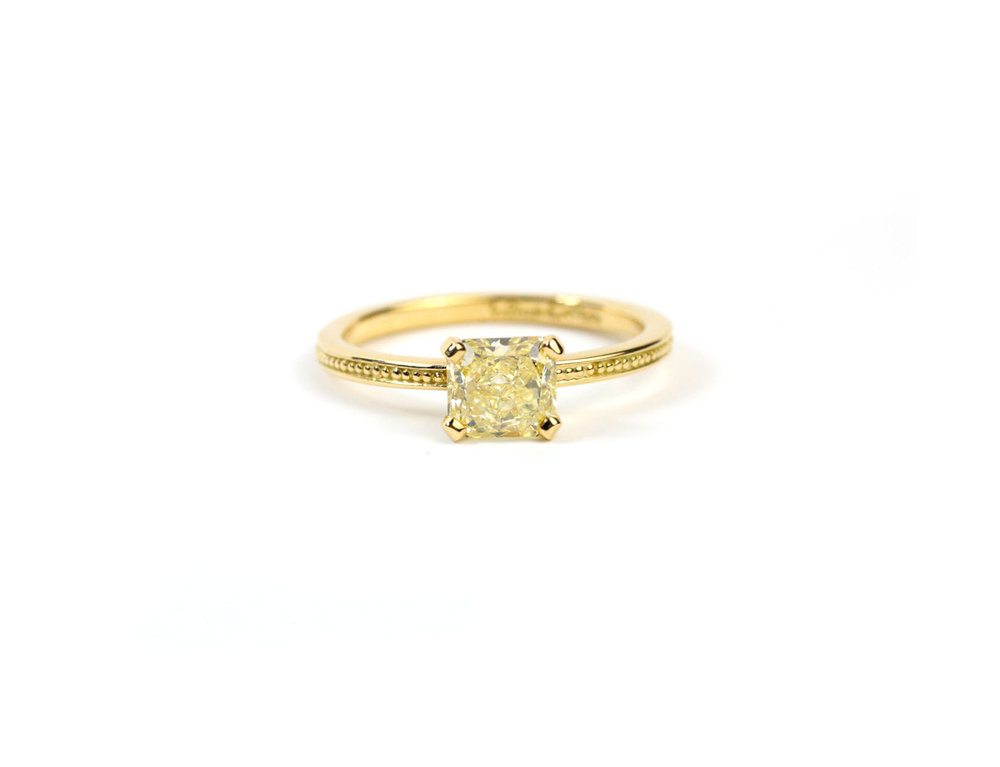 Yellow Gold Granulation Ring