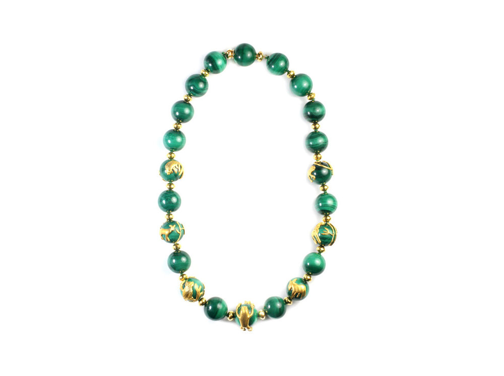 Malachite Animal Necklace