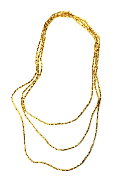 24kt Gold Long Bead Necklace - Made to Order