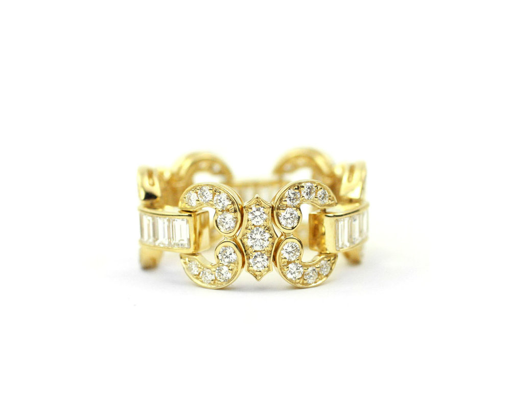 18kt Gold and Diamond Flexi Ring - In Stock