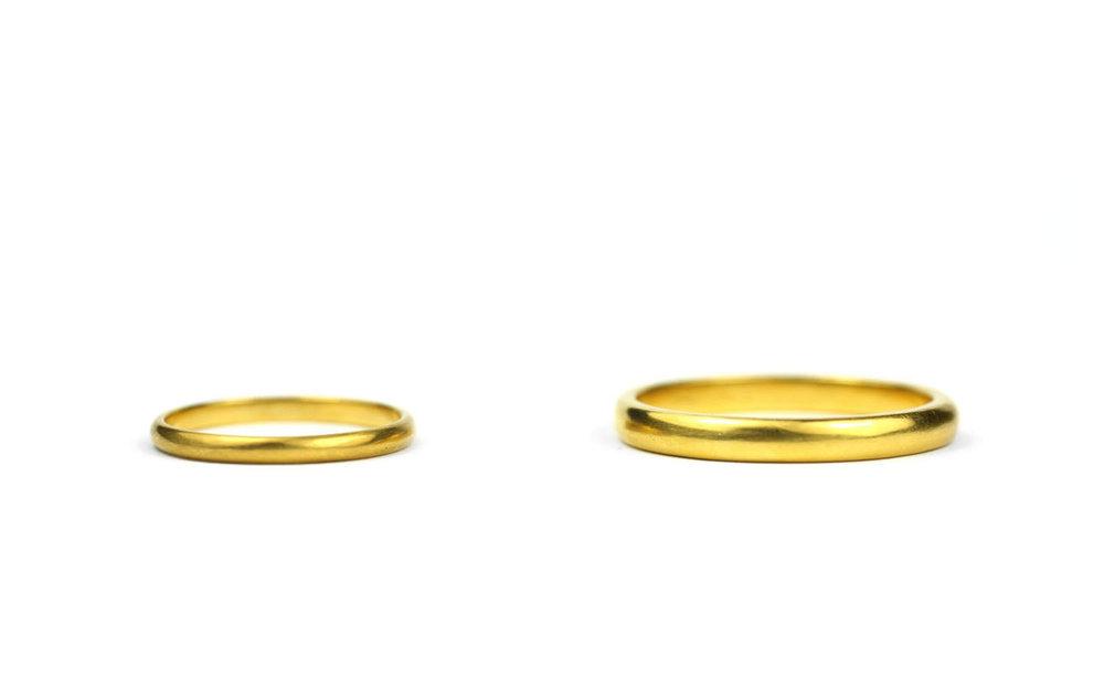 22kt Gold Bands