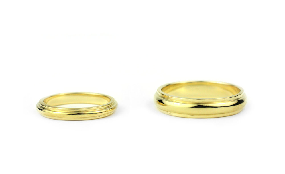 18 Kt Gold Bands Julius Cohen