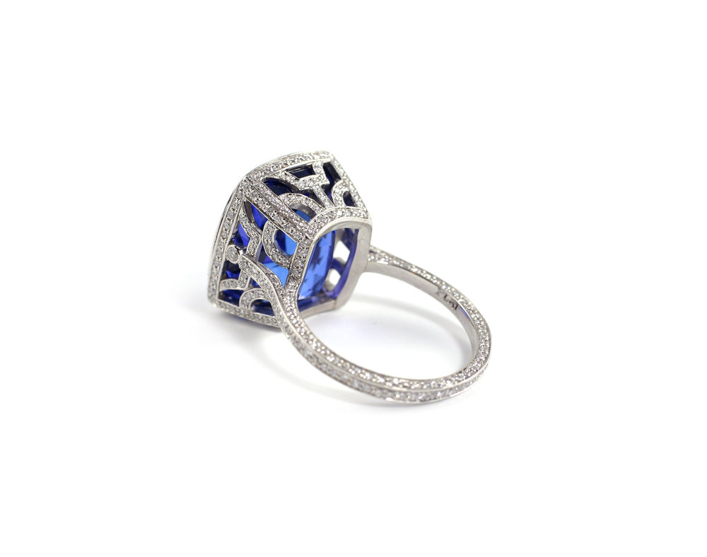 Tanzanite Deco Ring