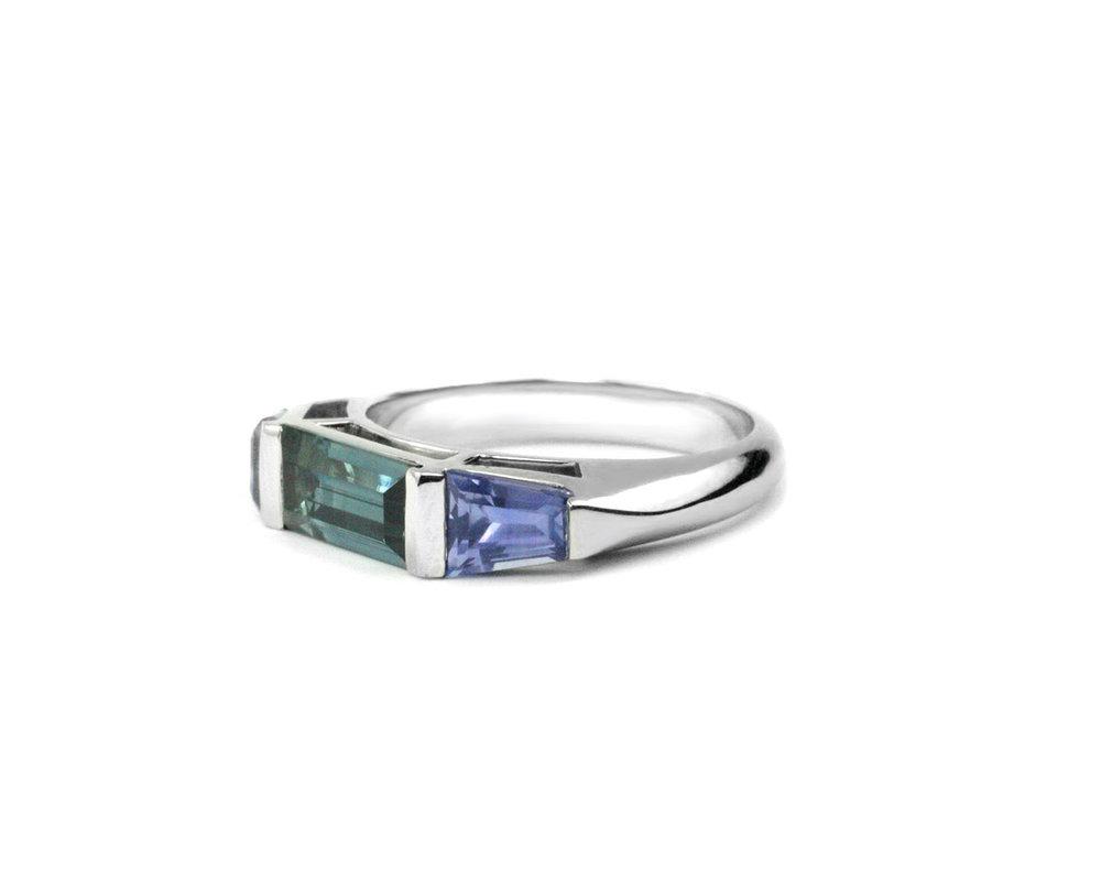 Modern Sapphire Ring