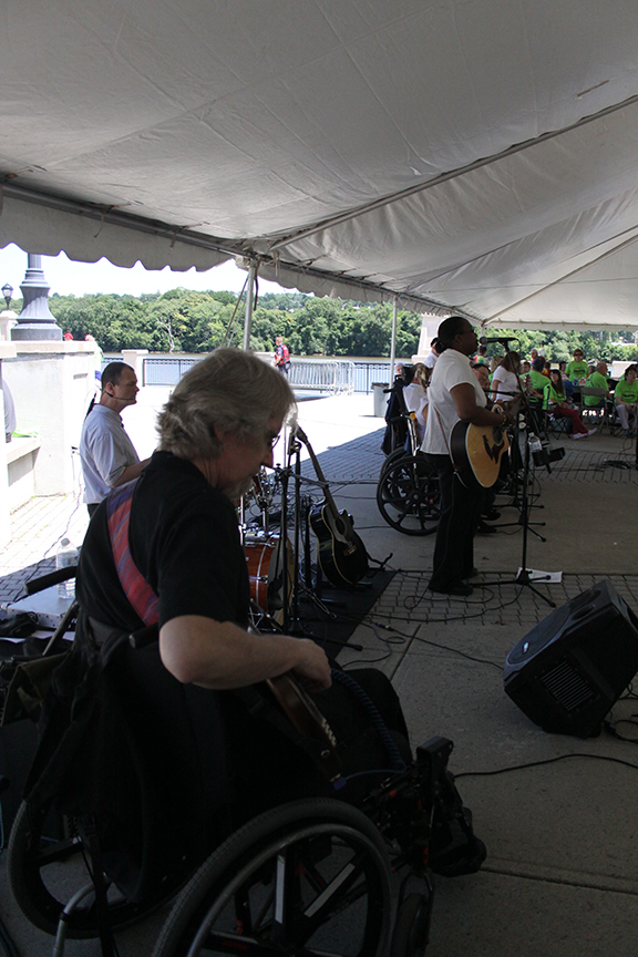 After the ceremony on the steps of the Capital, everyone went back to the Corning Preserve for a picnic lunch and an awesome performance by Flame!