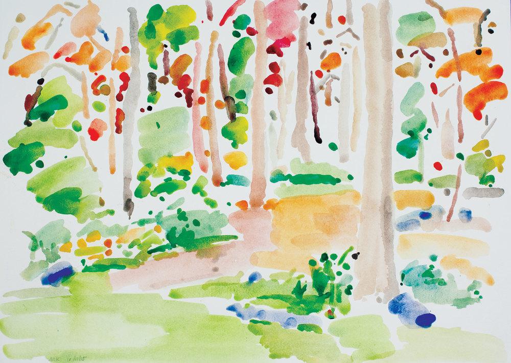 Backyard Autumn-101115-14x20