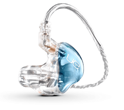 UE 5 Pro - £550.00   The UE 5 PRO is a dual driver custom in-ear monitor with exceptional frequency response and extended headroom. It is available in any color and can be personalized with individual artwork. Perfect as your first In Ear Monitor and for artists not requiring massive bass response. 2 Drivers (low and high).
