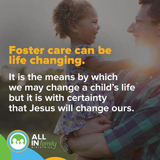 Foster care can be life changing. It is the means by which we may change a child's life but it is with certainty that Jesus will change ours.