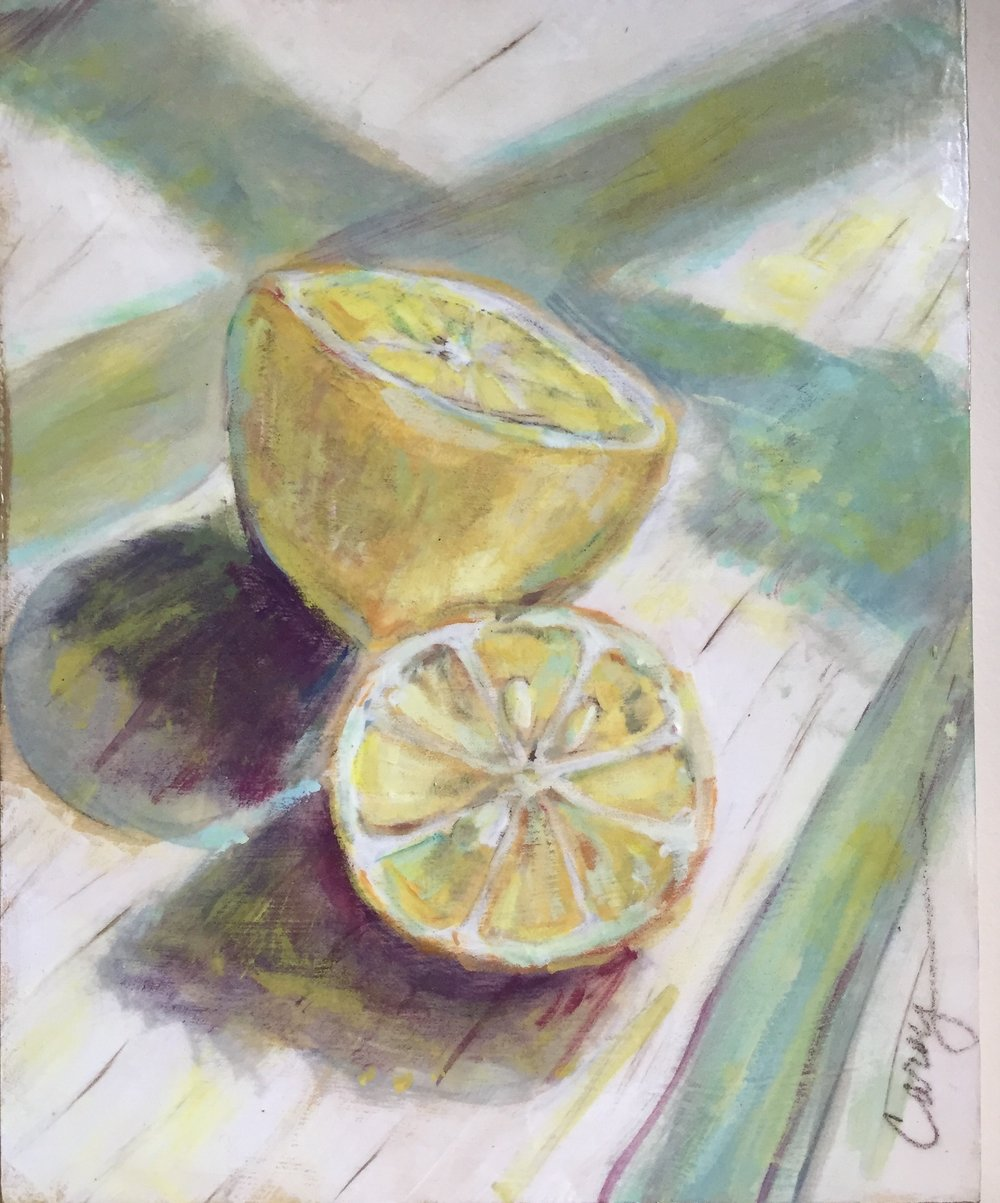 Lemons / 8x10 / mixed media / $245
