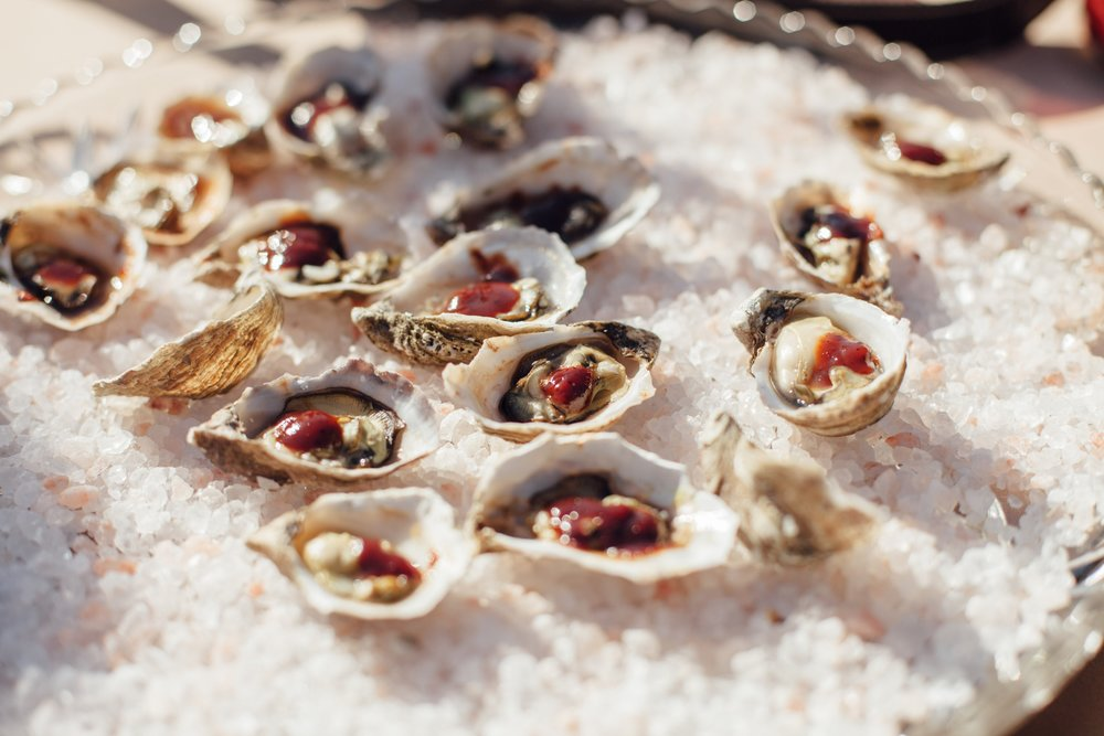 Add an oyster or slider bar to your event! -