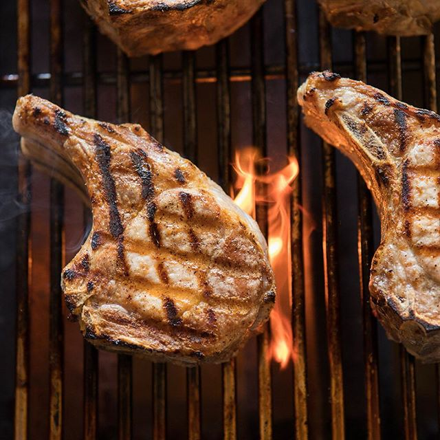 A new menu item: our perfectly grilled pork chops. . . . #qcraftbbq #porkchops #sonoma #marin #napa #winecountrywedding #sonomawedding #sonomacatering #catering #bbqcatering #sustainable #local