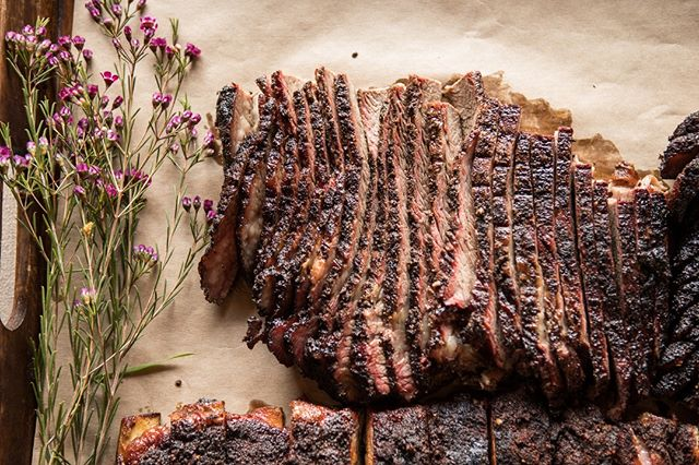 Meet our slow-smoked Texas Brisket. Sea salt and coarsely cracked peppercorns create a delectable bark that encases the tender, melt-in-your-mouth meat. . . . #qcraftbbq #texasbrisket #bbqbrisket #slowsmoked #brisket #knowyourrancher #sonoma #marin #napa #winecountrywedding #sonomawedding #sonomacatering #catering #bbqcatering #sustainable #local