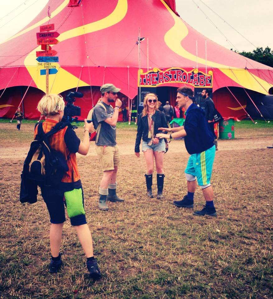 Alisa filming for TDWM at Glastonbury Festival