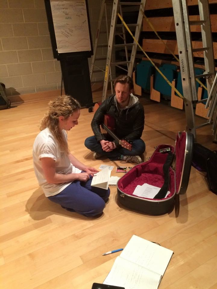 Dani at work with Tim Van Eyken at Sadler's Wells Wild Card in 2015