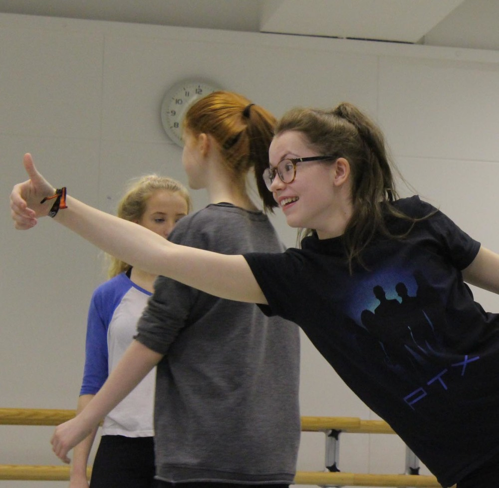 Chloe B smiling away in rehearsal! (Photo: NSCD)