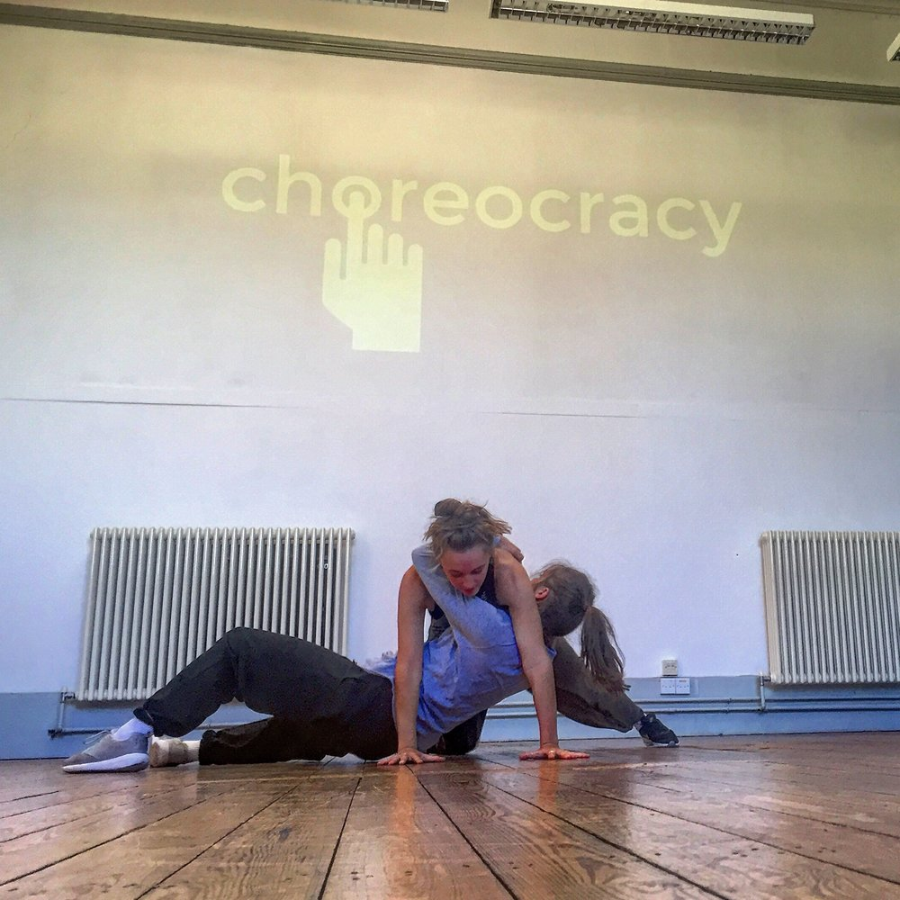 The Dancers in rehearsal for #Choreocracy