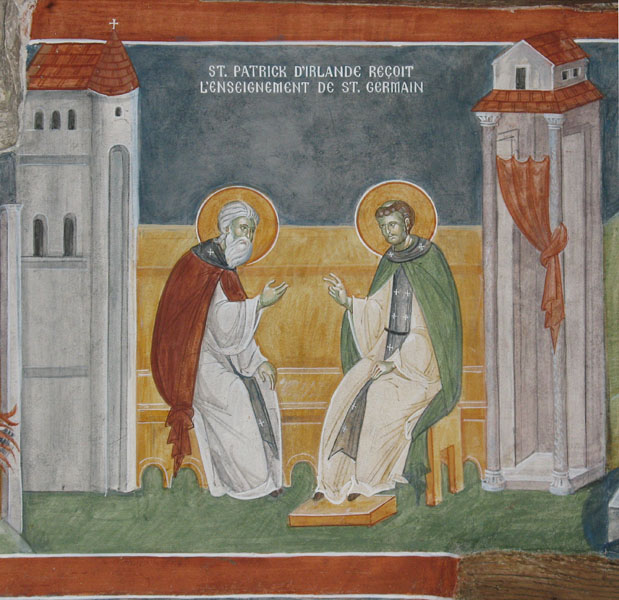 07 St Patrick Receives Instructiuon from St Germanos-700px.jpg