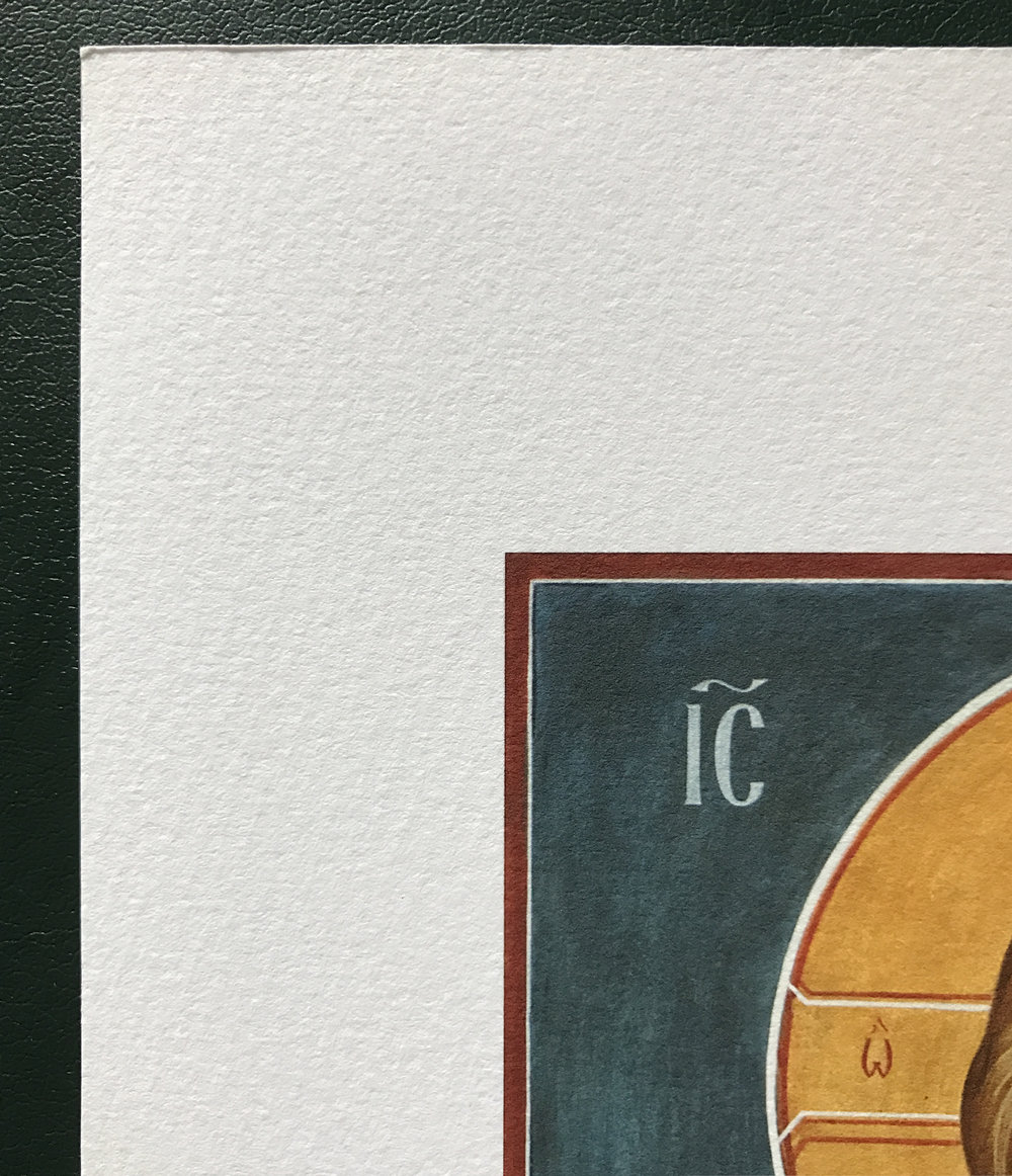 Giclée print detail showing paper, ink, and border. Click image to go back.