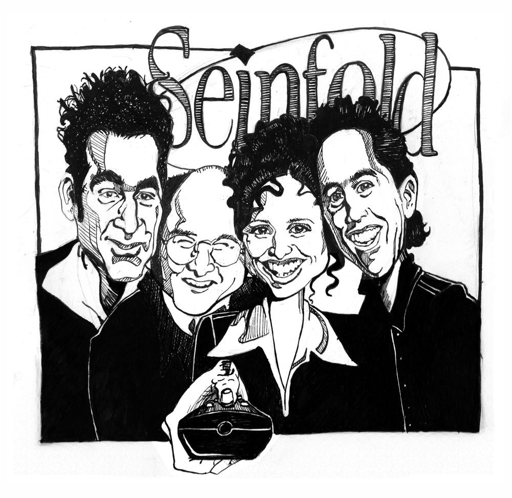 """Seinfeld Caricature""    Pen on Paper"