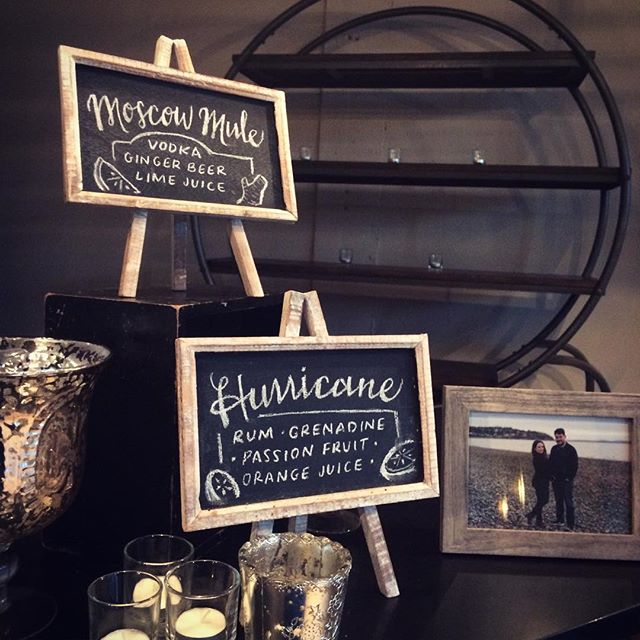 Cocktail 🍹 Signs #meganandbrianwedding #chalksign