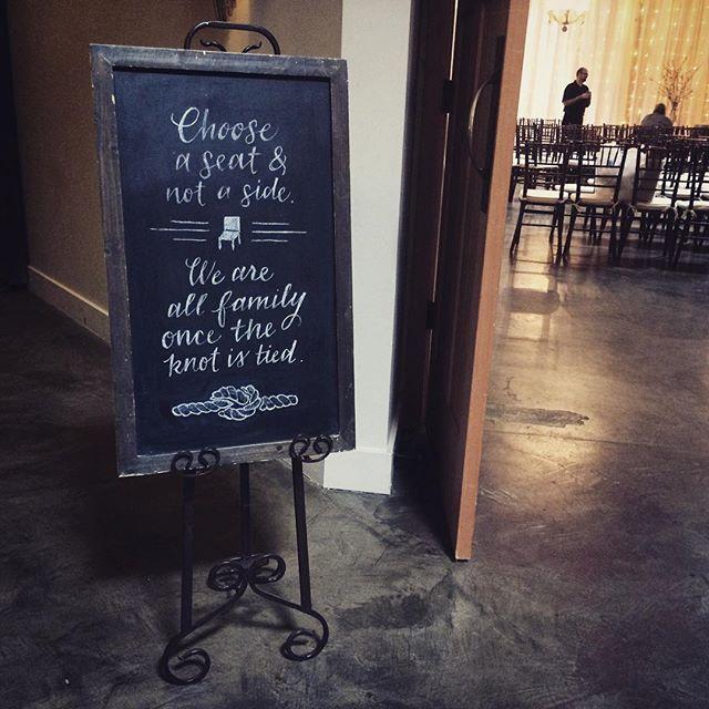 Seating sign #meganandbrianwedding #chalksign