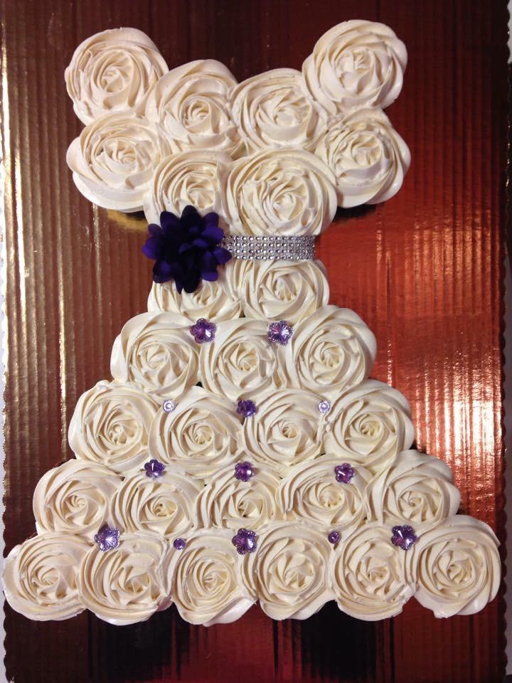 cupcake bridal shower wedding dress