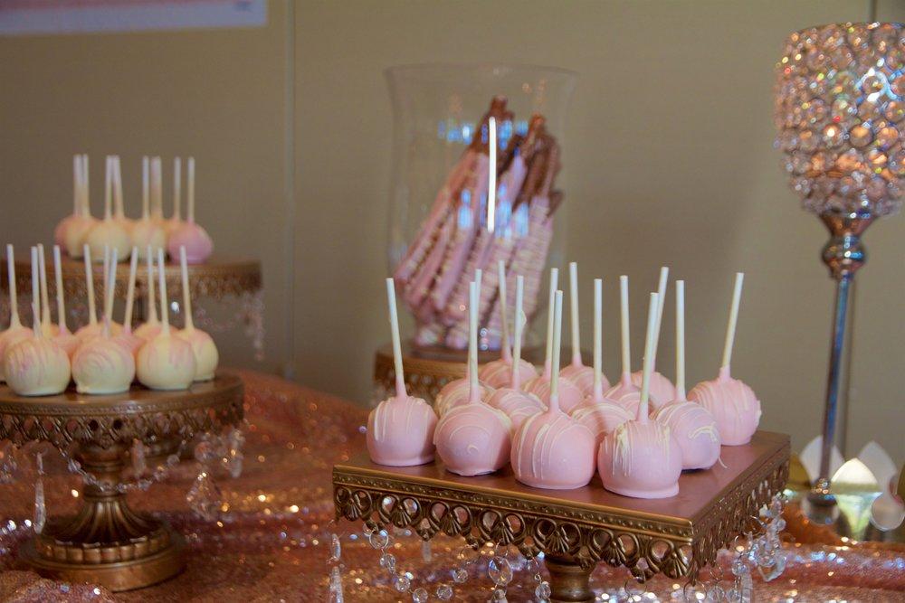 cake pops pink birthday