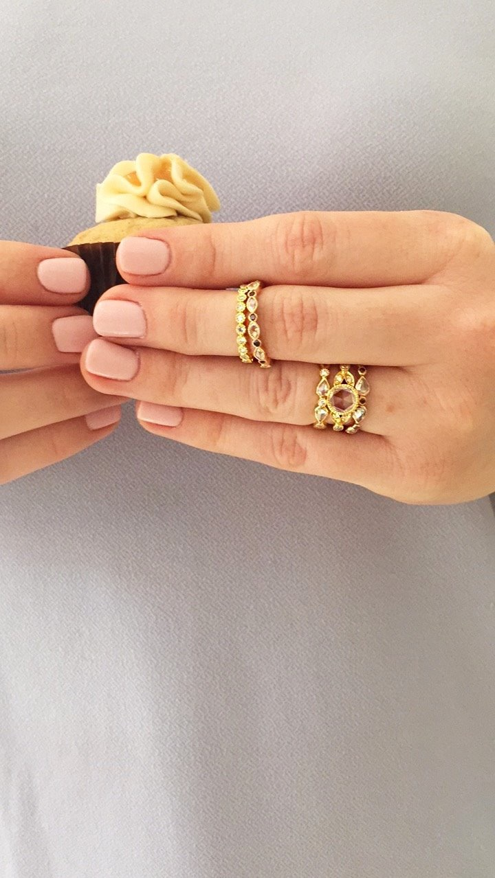 cupcake married engaged ring