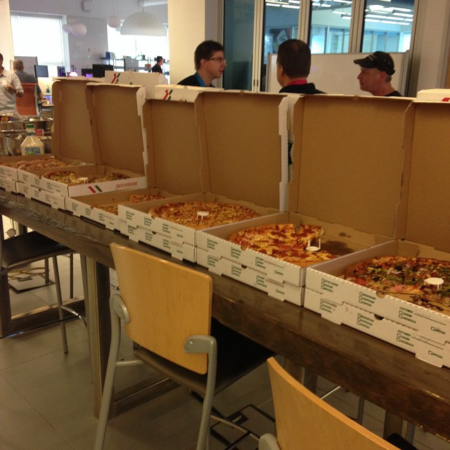 We're working up an appetite here at #DevDay. It's time to fuel up #brightideas