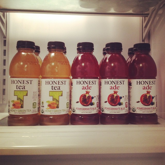 Thanks @honesttea for stocking the fridge today! #NTxApps #hackathon #appdev #nom #honesttea