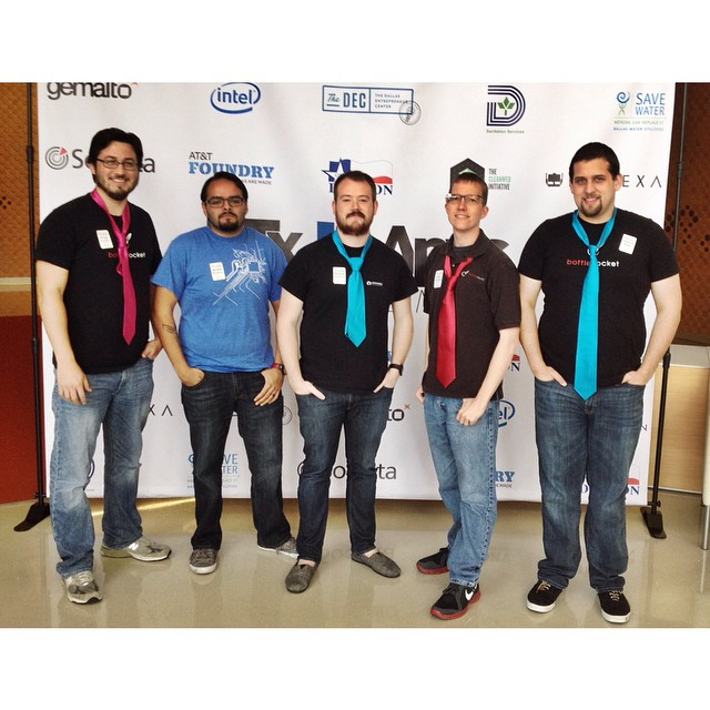 Huge thanks to the @_bottlerocket crew for coming out today! #NTxApps #DevDay #appdev #hackathon