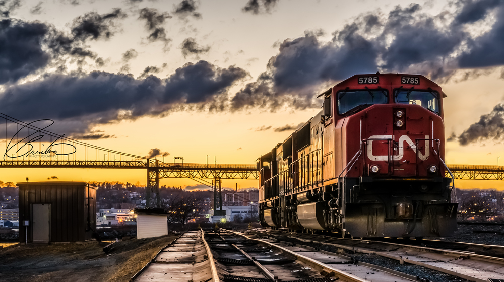 CN Train Shot that won Photo of the Month through Nikon Canada