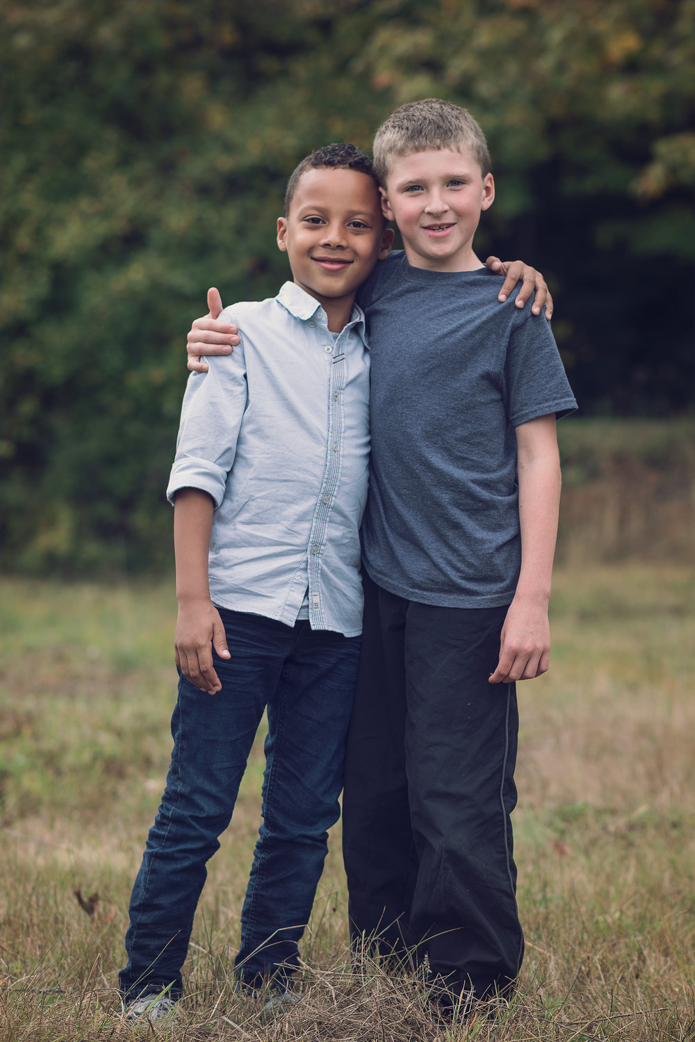 My Son (right) came to help me with the family sessions and made a friend!