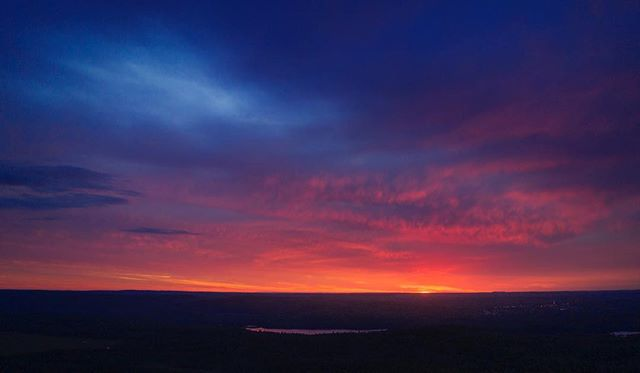 Woke up to hit the gym and went out in the backyard to catch the sunrise with the Phantom :) Good Morning ! #sunrise #novascotia #drone