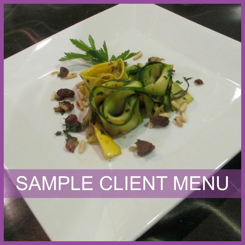 SAMPLE CLIENT MENU
