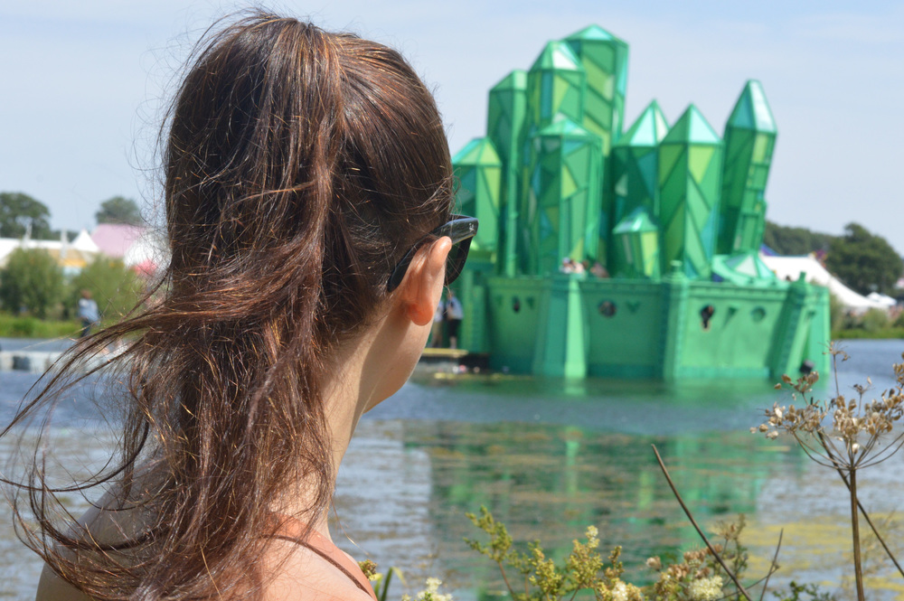 The floating Emerald City stage was ceremonially set on fire at the end of the festival.