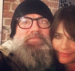 Michael Stipe and Helena Christensen at J. ELSTER.jpg