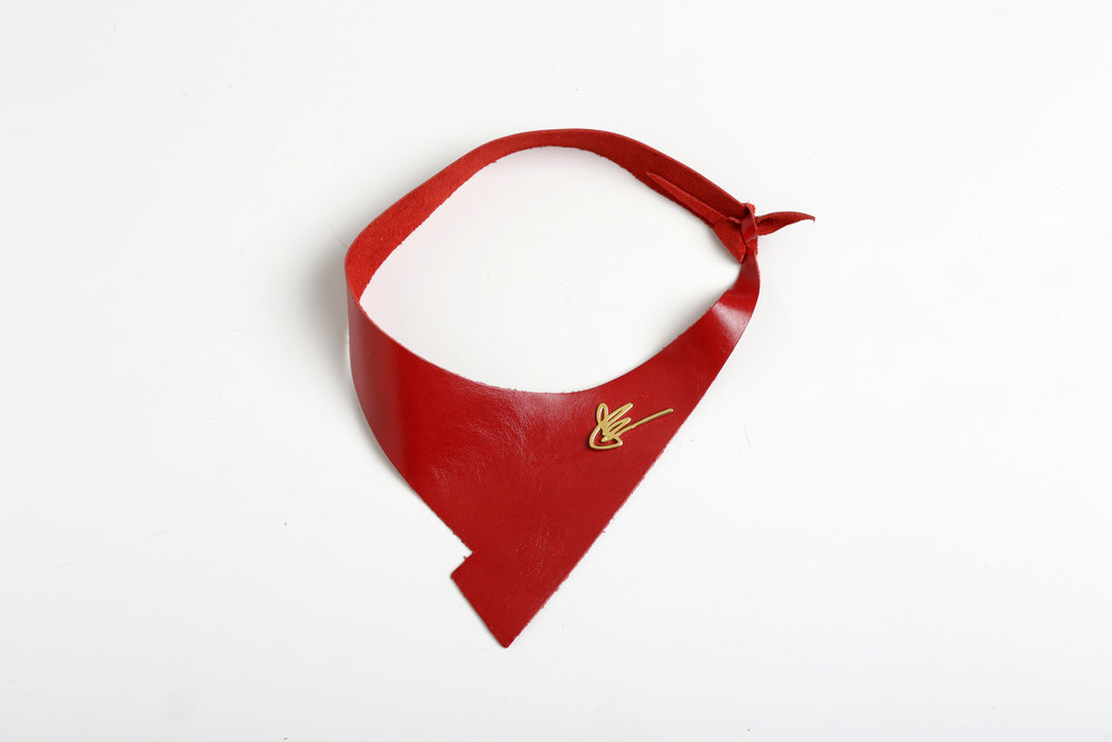 Love Collection Pouch Mask Red Black JElster NYC Shazam neckpiece