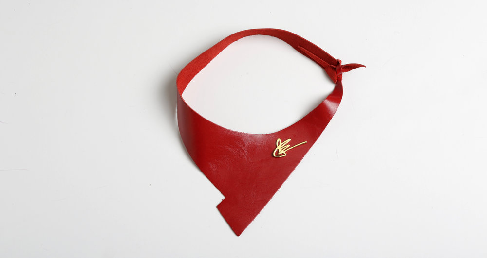 The Shazam Neckpiece in Red   $295-345