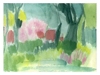 Old Westbury Gardens Watercolor Sketch