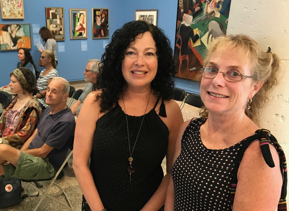 Artist Rachelle Krieger with Heckscher Museum Curator Lisa Chalif