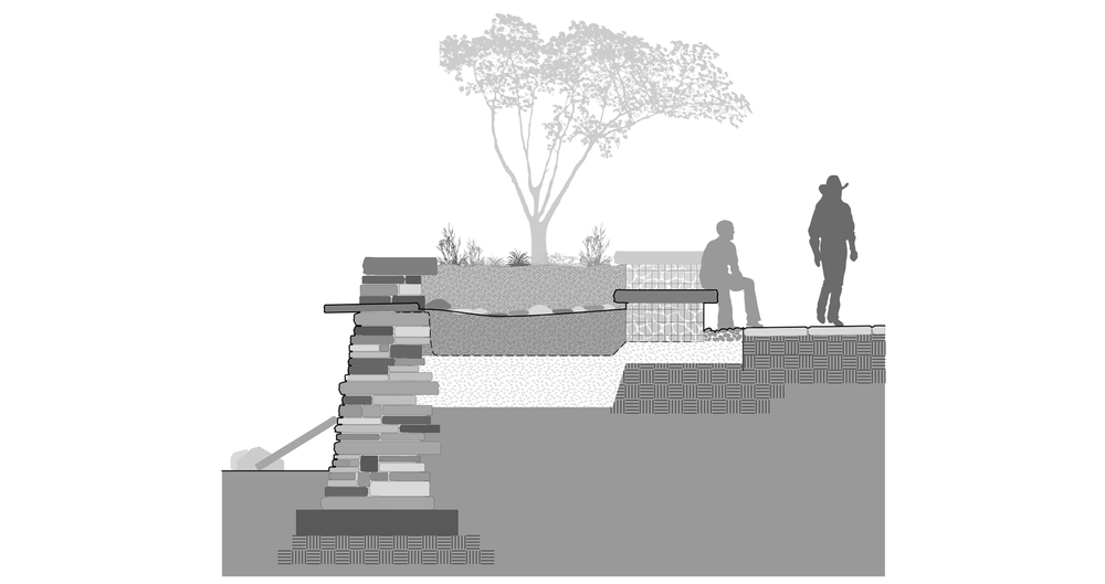 Detailing Check Dam Seat Wall Richard Fisher