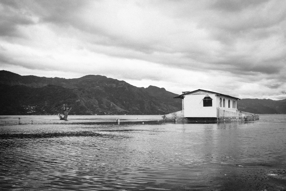 Apparently a few years back the water at lake Atitlan rose 8 or 9 feet. Because of that, abandoned shops and houses litter the waters edge around most of the lake.