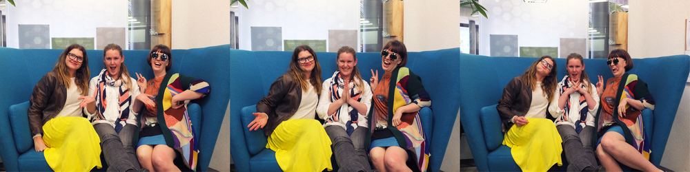 Left to Right: Simone Hunter (General Manager), Kate Ricketts (Project Manager/Digital Producer), and Gemma Syme (Christchurch Ambassador) of Boosted.