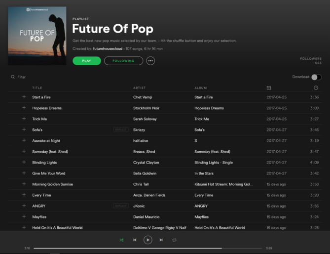 "Future House Cloud features Trevor Lee's ""Save the Day Freestyle"" in their 'Future of Pop' Spotify playlist."